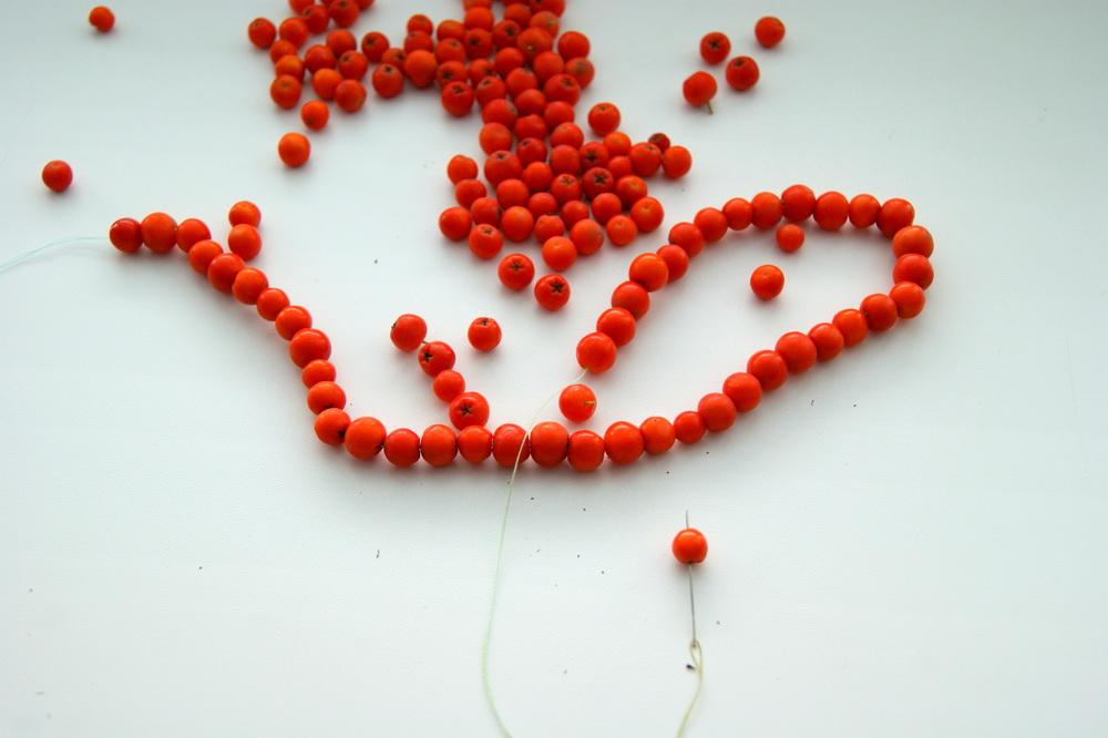 бусы из ягод